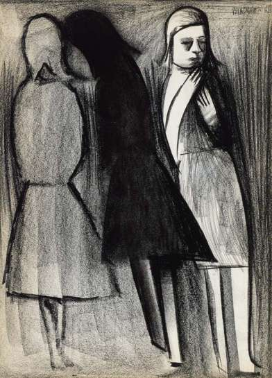 Untitled (Three Girls) by CHARLES BLACKMAN
