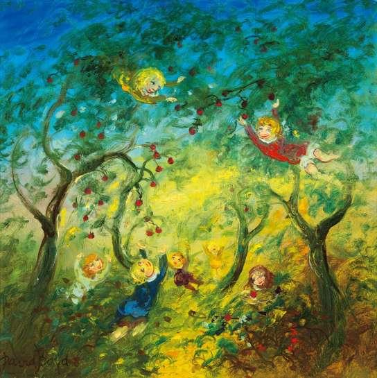 Untitled (Children in a Garden) by DAVID BOYD