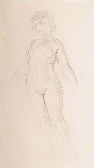 Study of a Model by NORMAN LINDSAY