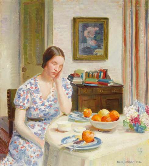 Interior with Josephine, London by NORA HEYSEN