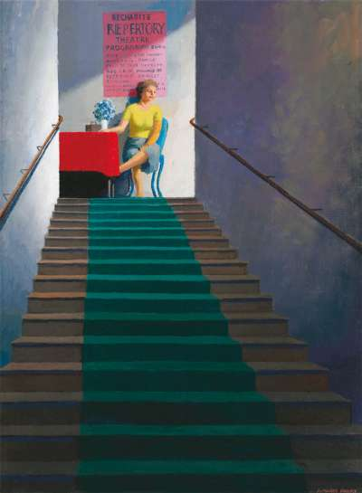 Study for Repertory Theatre Entrance by JEFFREY SMART