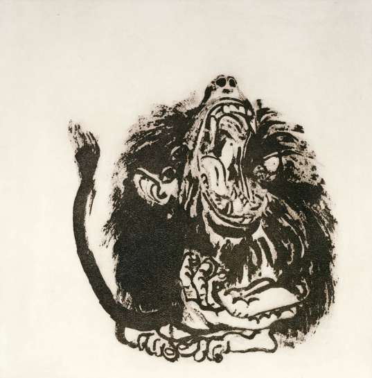 Young Baboon by BRETT WHITELEY
