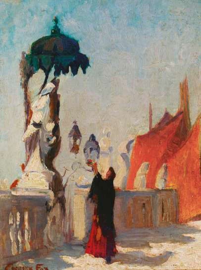 Chioggia, Statue of the Madonna, Venice by ETHEL CARRICK FOX