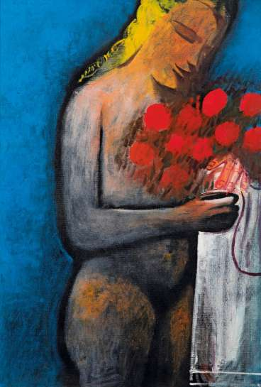 Nude with Flowers by CHARLES BLACKMAN