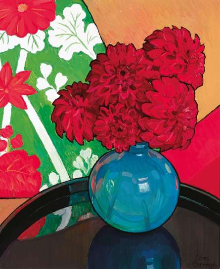 Red Dahlias by CRISS CANNING