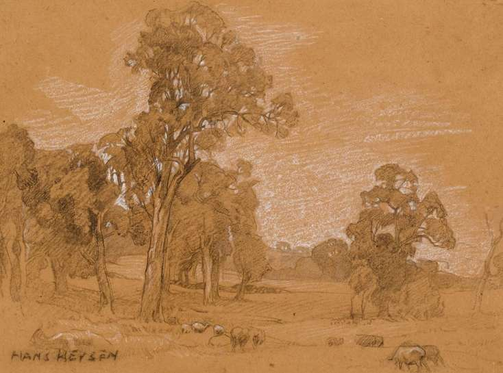 Ambleside Landscape, Mount Barker, South Australia by HANS HEYSEN