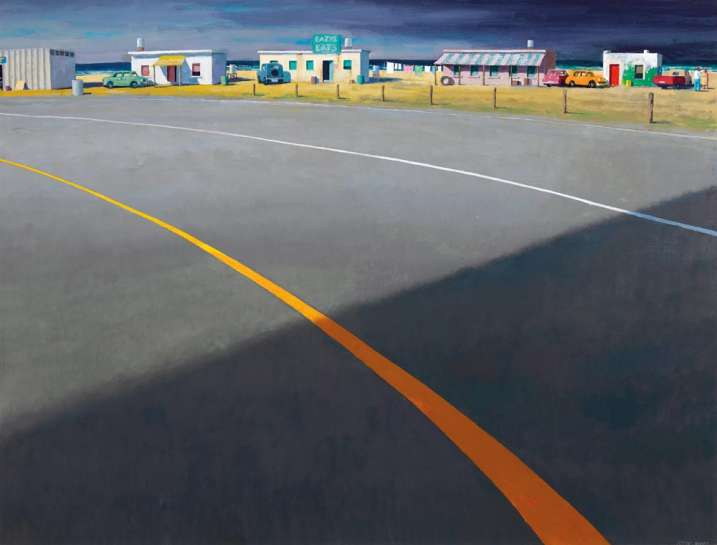 The Yellow Line by JEFFREY SMART