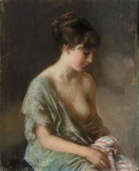 Seated Girl by JANET CUMBRAE-STEWART