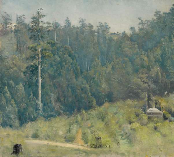 Untitled (Dandenongs Landscape) by TOM ROBERTS
