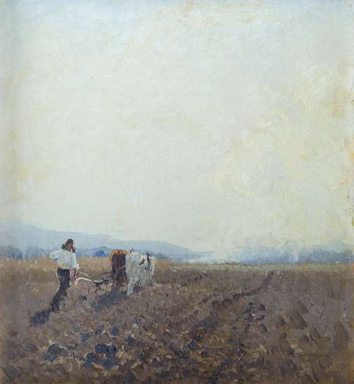 Ploughing Windsor by ELIOTH GRUNER