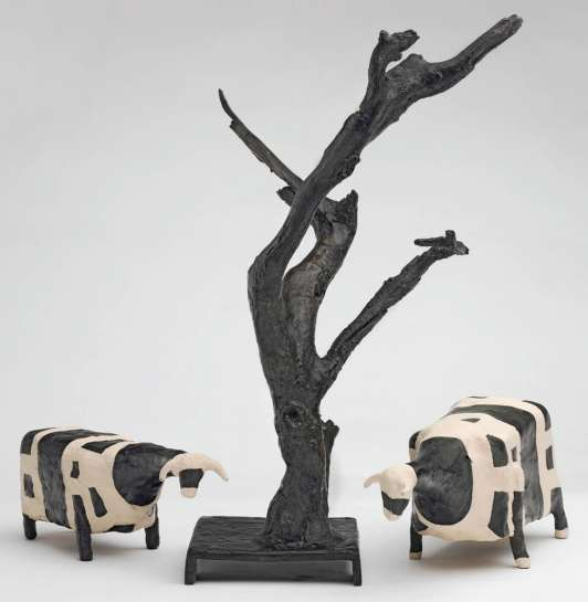 Two Cows and a Tree by JOHN KELLY