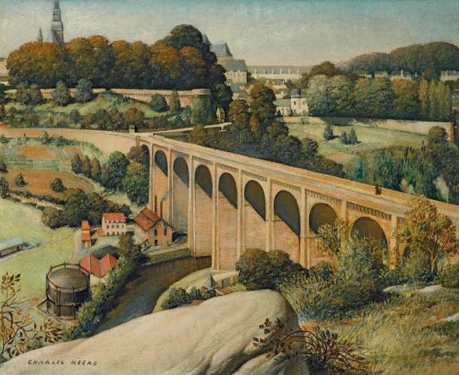 Viaduct (Dinan sur la Rance) by CHARLES MEERE