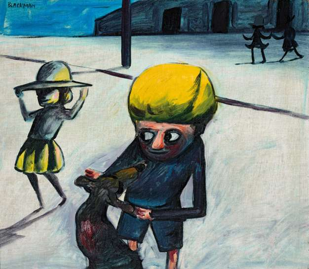 School Children at Play by CHARLES BLACKMAN