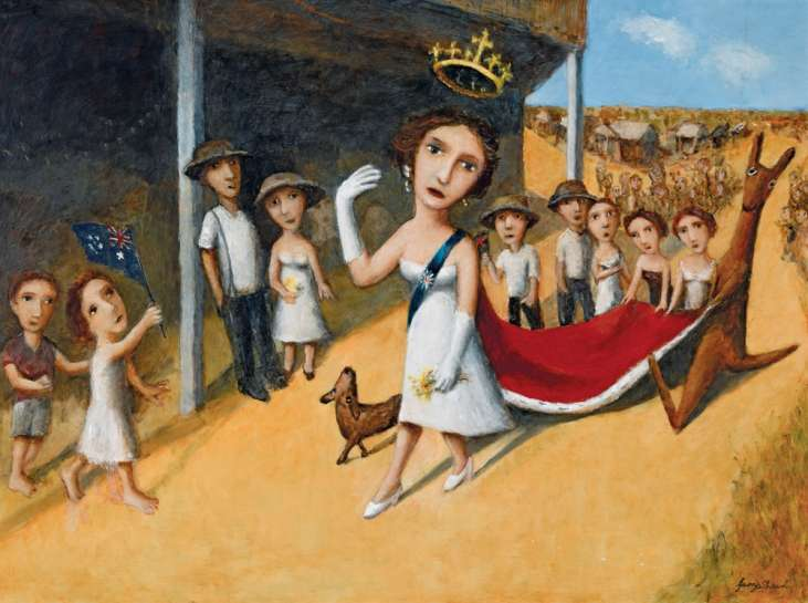Queen and Royal Procession II by GARRY SHEAD