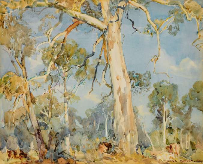 The White Gum, Ambleside by HANS HEYSEN