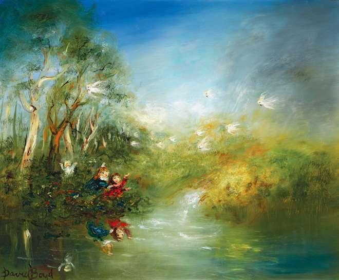 Reflections, Cockatoo Waterfall by DAVID BOYD