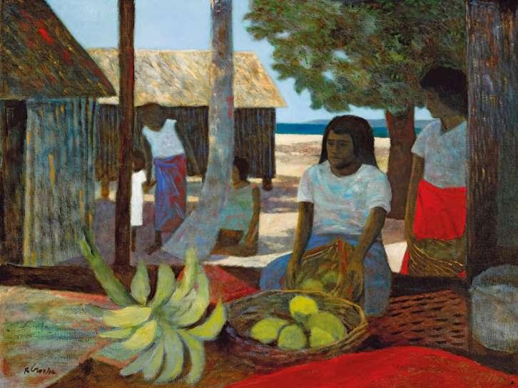 Fijian Island Scene by RAY CROOKE