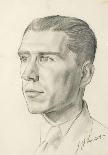 Portrait of Peter McDonald by JEFFREY SMART