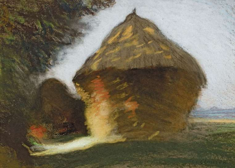 The Rickyard by GEORGE CLAUSEN