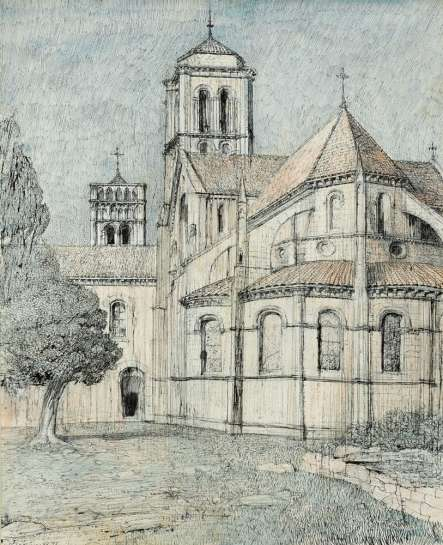 Basilica of the Madeleine, Vézelay by LLOYD REES