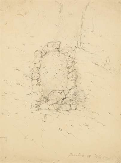 Study for Graves at the Turon by THOMAS BALCOMBE