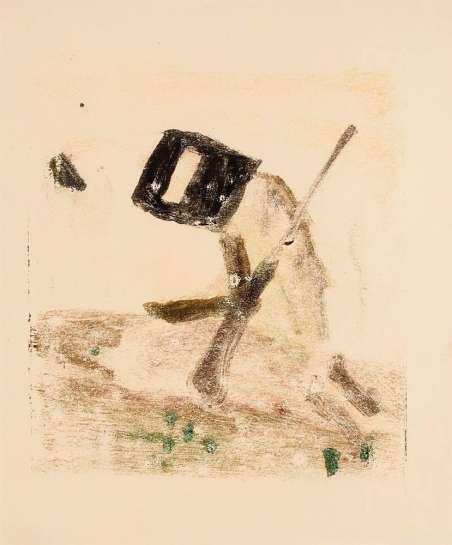 Untitled (Kneeling Kelly) by SIDNEY NOLAN