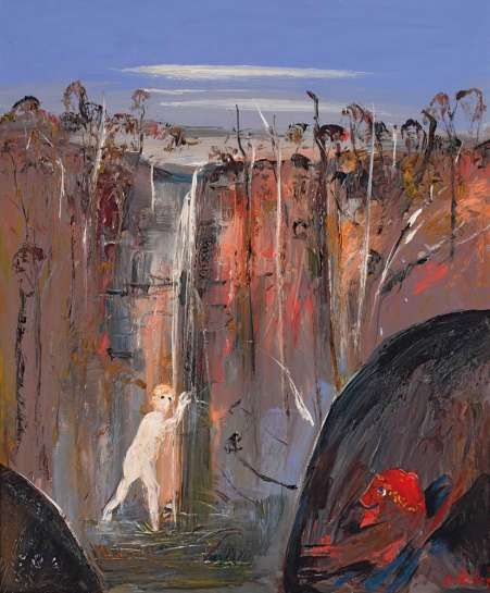 Woman Bathing in a Waterfall (Susanna and the Elders) by ARTHUR BOYD