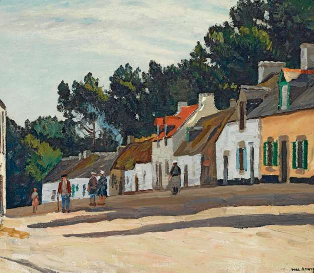 Village in Brittany, Concarneau by WILL ASHTON
