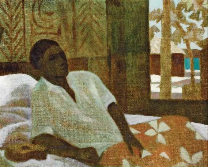 Islander with Ukulele by RAY CROOKE