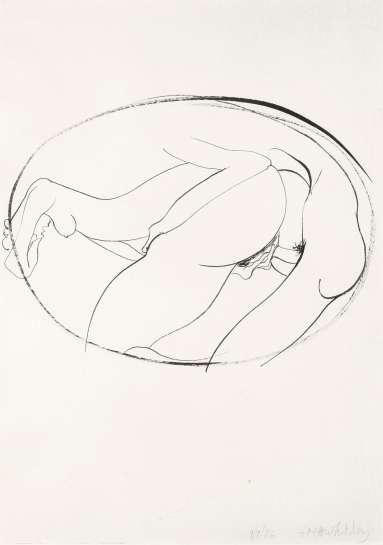 Untitled (Erotic Drawing) by BRETT WHITELEY