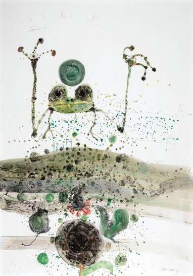 Frog in a Pond by JOHN OLSEN