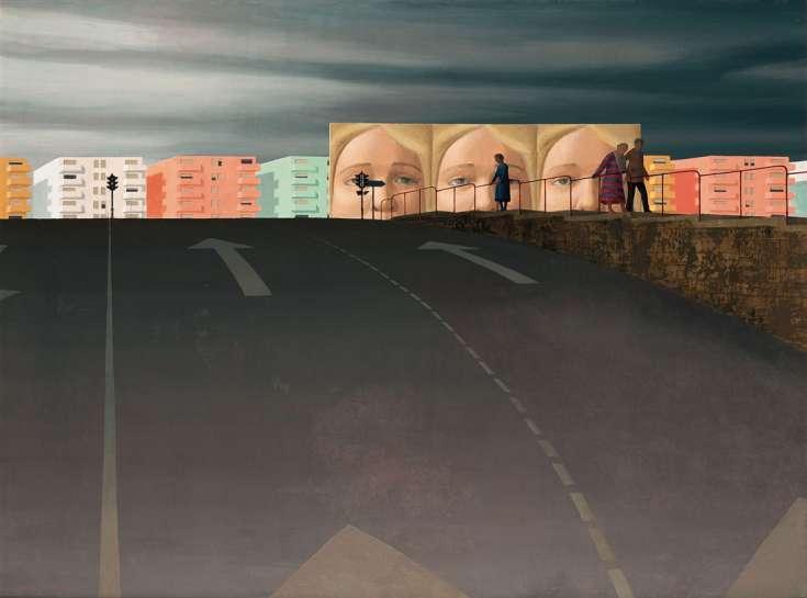 The Billboards II by JEFFREY SMART
