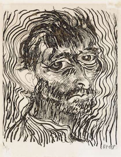 Self Portrait, One of a Dozen Glimpses (from Another Way of Looking at Vincent Van Gogh 1888-1889) by BRETT WHITELEY