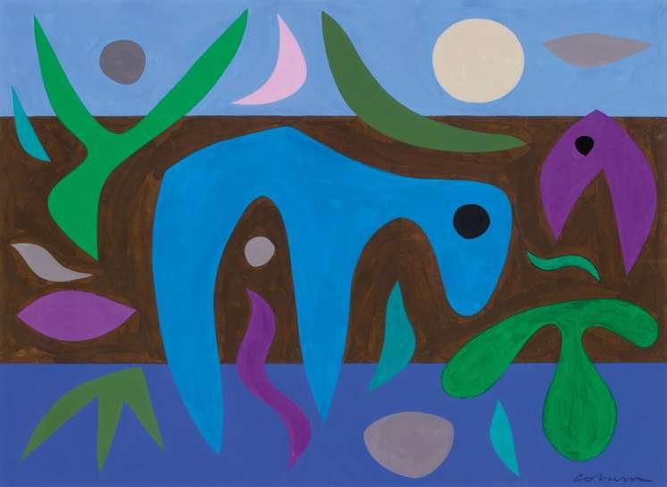 Night Desert by JOHN COBURN