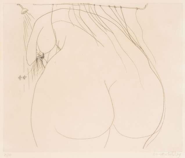 Woman Under the Shower by BRETT WHITELEY