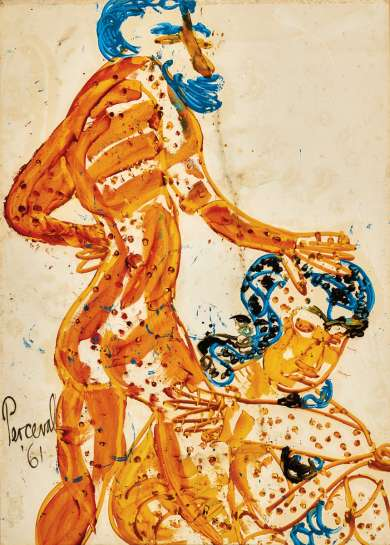 Adam and Eve by JOHN PERCEVAL