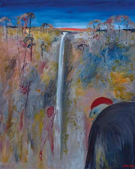 Bathers at Fitzroy Falls by ARTHUR BOYD