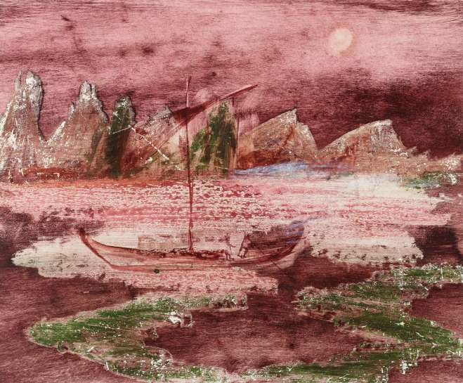 Landscape with Boat by SIDNEY NOLAN