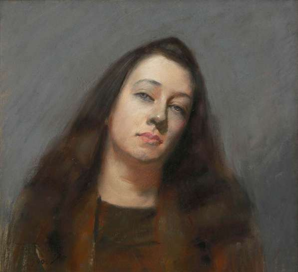 Portrait of Olive Bird by TOM ROBERTS