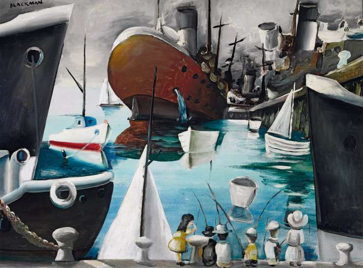 Boats at Williamstown by CHARLES BLACKMAN