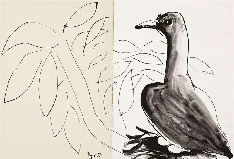 Untitled (Dove) by BRETT WHITELEY