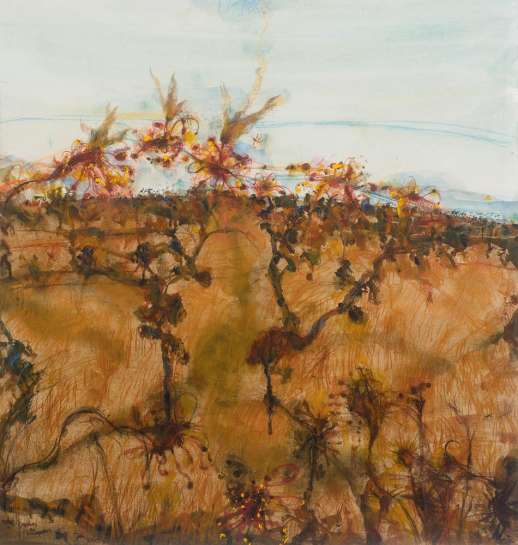 Rydal - Grevilleas and Honeyeaters by JOHN OLSEN
