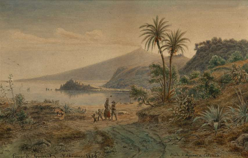 Strada di Messina a Catania by EUGENE VON GUÉRARD