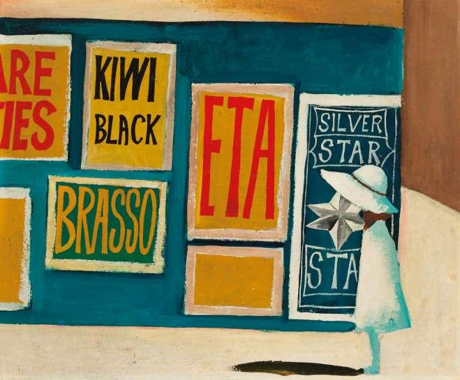 Schoolgirl and Billboards by CHARLES BLACKMAN