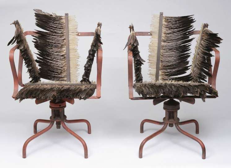 ROSALIE GASCOIGNE Feathered Chairsimage