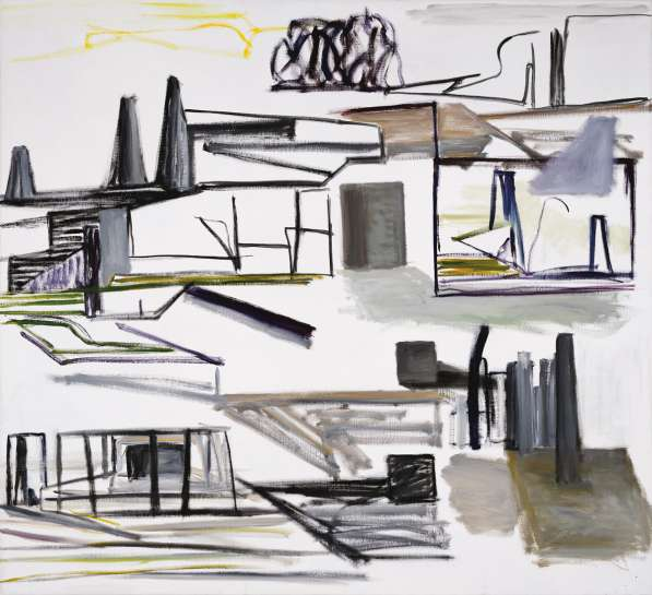 60. Ken Whisson Landscape in Various Browns, Greys and Yellows 1992 image