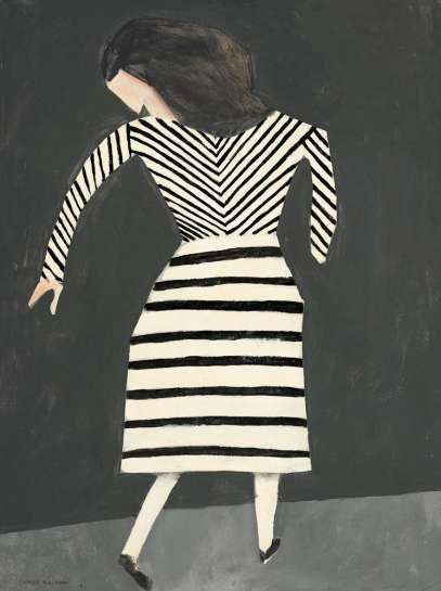 CHARLES BLACKMAN Girl with Striped Dress image
