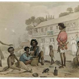135. Augustus Earle, Natives of New South Wales in the Streets of Sydney 1830 image