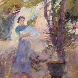 26. FREDERICK McCUBBIN Washing Day, Brighton image
