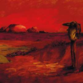 40. RUSSELL DRYSDALE Red Landscape 1958 image